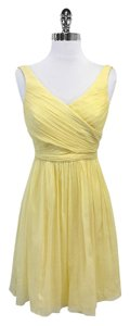 J.Crew short dress Canary Yellow Chiffon on Tradesy