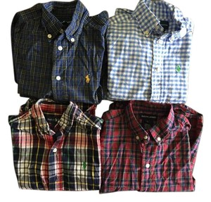Ralph Lauren Boys Button Down Shirt multi-color, plaid, gingham
