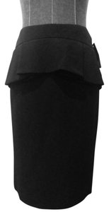 Alexander McQueen Pencil Peplum Skirt Black