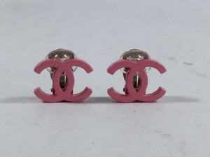Chanel Pink Clip On Earrings