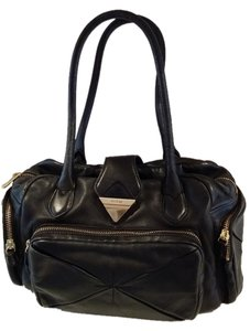 Botkier Leather Lambskin Satchel in Black