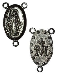 Other Gunmetal Christian Saint Medal Of Rosary