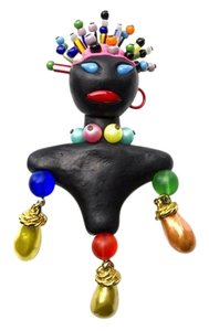 Chanel Chanel Vintage Beaded Blackamoor Doll Pin