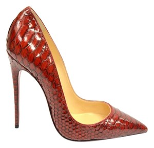 Christian Louboutin Python So Kate red Pumps