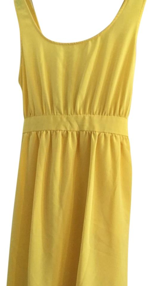 41a17e8c5d1 Forever 21 Yellow Above Knee Short Casual Dress Size 12 (L) - Tradesy