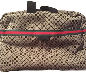 Gucci Brown, Black Travel Bag