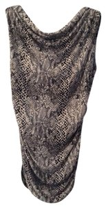 Michael Kors Only Worn Twice Top Snake Skin print black/tan