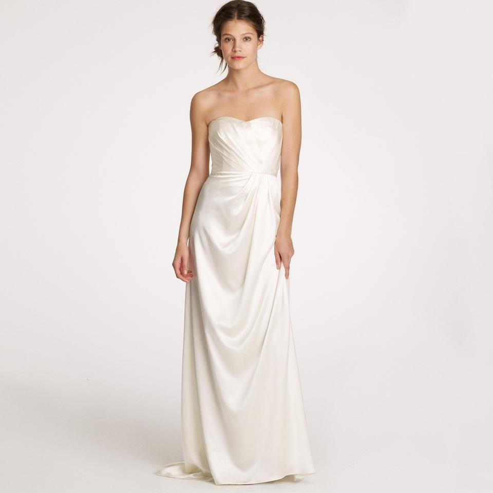J.Crew Ivory Silk Satin Lorabelle Feminine Wedding Dress