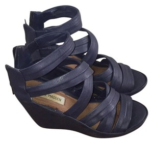 Steve Madden Blue Wedges