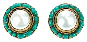 Chanel Chanel Vintage Turquoise Pearl Earrings