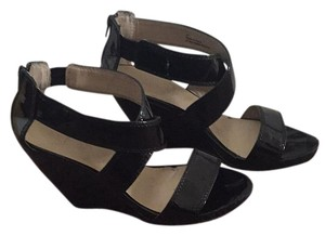 ALDO Black patent leather Wedges