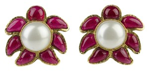 Chanel Chanel Vintage Gripoix Pearl Earrings