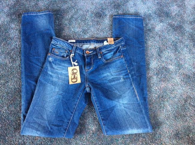 Quiksilver Straight Leg Jeans-Distressed