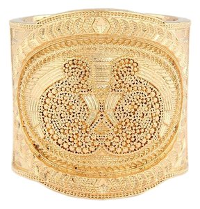Balmain Small Gold Stephanie Manchette Cuff