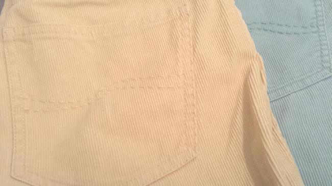 Talbots Corduroy Petite Boot Cut Pants Light Yellow & Blue