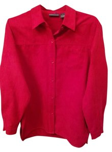 Relativity Button Down Shirt Red