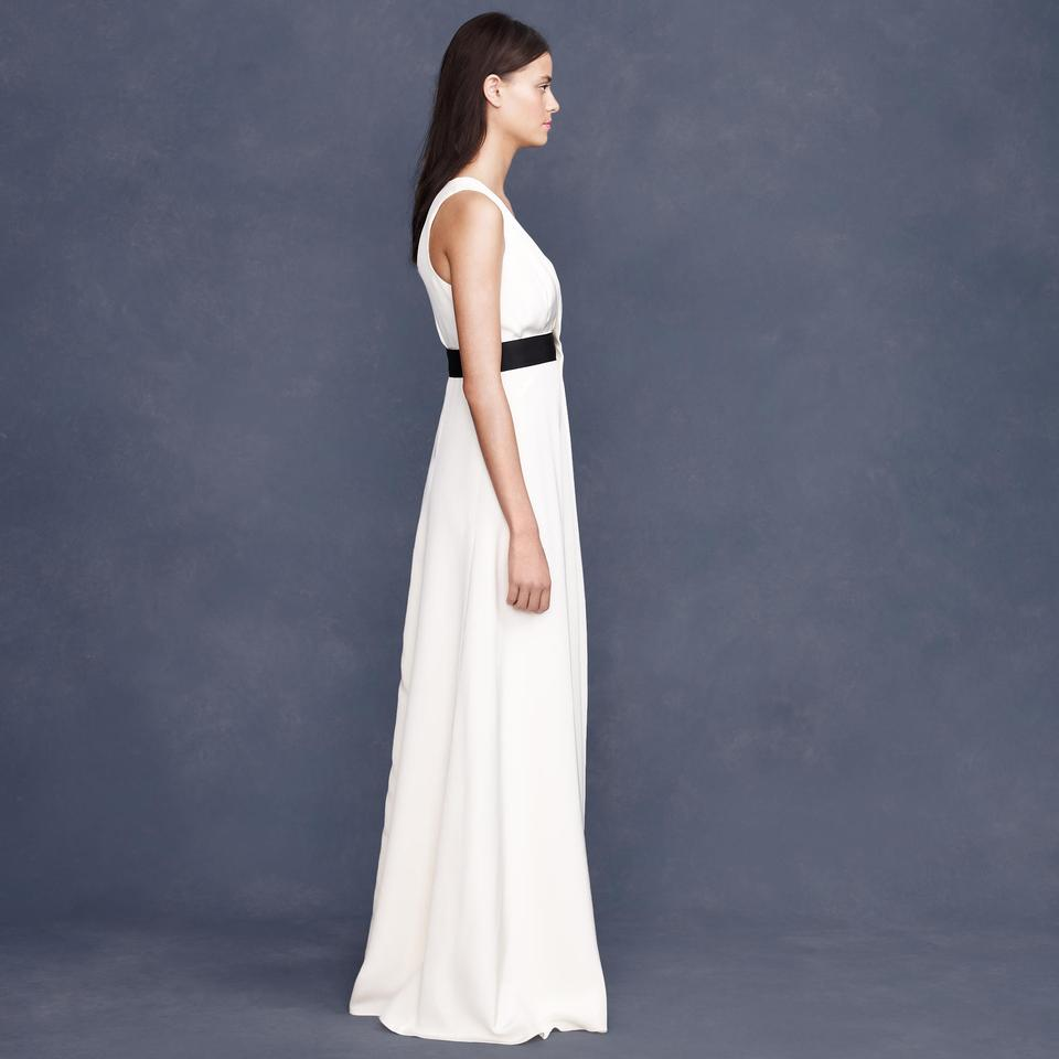 J.Crew Ivory Silk Tricotine Gala Modern Wedding Dress Size 4 (S ...