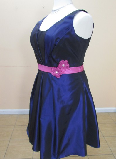 Eden Violet/Raspberry Taffeta 6019 Formal Bridesmaid/Mob Dress Size 16 (XL, Plus 0x)