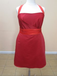 Eden Red/Terra Cotta Satin 6023 Formal Bridesmaid/Mob Dress Size 18 (XL, Plus 0x)
