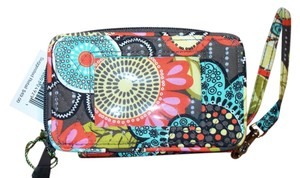 Vera Bradley Vera Bradley Flower Shower Smartphone Wristlet NWT Brown Teal Orange