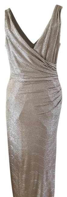 Item - Gold Long Night Out Dress Size 6 (S)