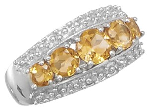 Sterling Collections .925 Sterling Silver Graduated Citrine Ring (available sizes 6-10) / size?