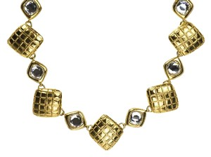 Chanel Chanel Vintage Quilted Square Crystal Choker