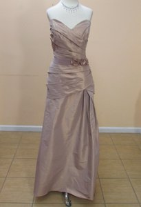 Eden Raw Sienna /Chestnut Taffeta 7353sd Formal Bridesmaid/Mob Dress Size 14 (L)