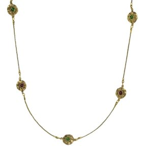 Chanel Chanel Vintage Gold Floral Chain Necklace