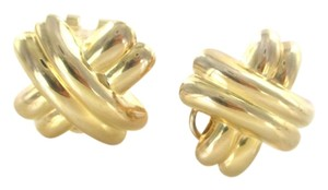 Other 14KT YELLOW GOLD EARRINGS X DESIGN XX'S 6.2 GRAMS FINE JEWELRY