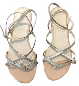 J.Crew Glitter Ankle Strap Metallic Gold Sandals