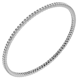 Avi and Co 3.00 cttw Round Brilliant Cut Diamond Bangle Bracelet 14K White Gold