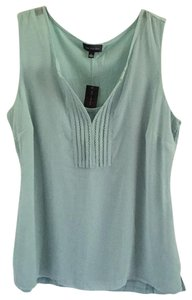 The Limited Sheer Pet/smoke Free 2 Layer Pastel Top Mint Green