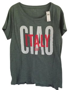 Gap Graphic Italian Pet And Smoke Free T Shirt Army Green