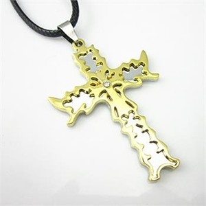 Stainless Steel Men's Cross Necklace Free Shipping