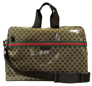 Gucci 374770 Travel Brown Travel Bag