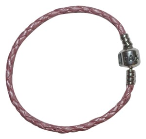 PANDORA Pandora Pink Leather Braided Bracelet