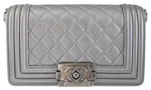 Chanel Boy Flap Stingray Cross Body Bag