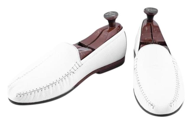 Item - White * Men's Daman Leather Loafers Mens Formal Shoes Size US 10.5 Wide (C, D)