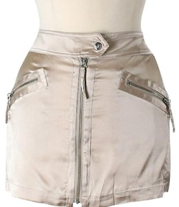 Marciano Silk Mini Skirt Beige