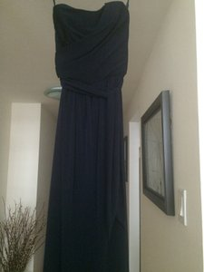Amsale Navy Jersey Casual Bridesmaid/Mob Dress Size 0 (XS)