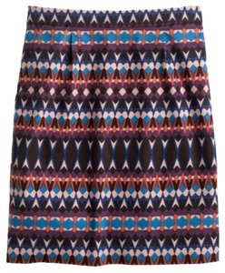 J.Crew Geometric Tribal Salon Mini Mini Skirt Gemstone Print