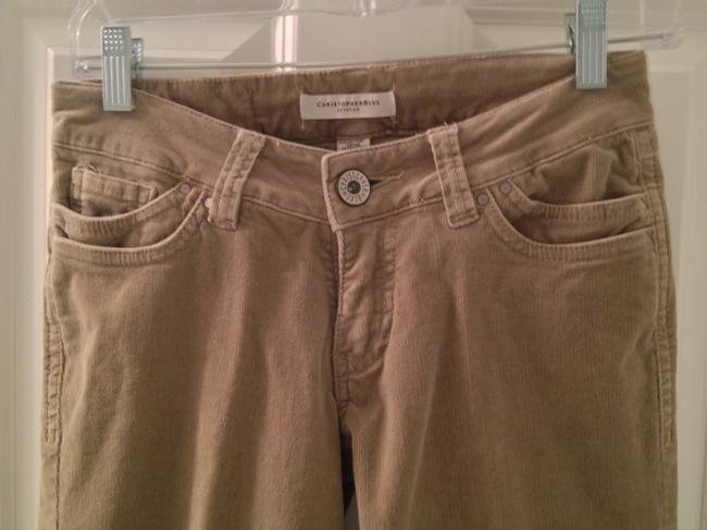 Christopher Blue Corduroy Boot Cut Pants Khaki
