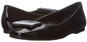 Vaneli Patent Leather Flat Metallic Black Flats