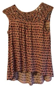 Plenty by Tracy Reese Boho Creative Hippie Top Red multi
