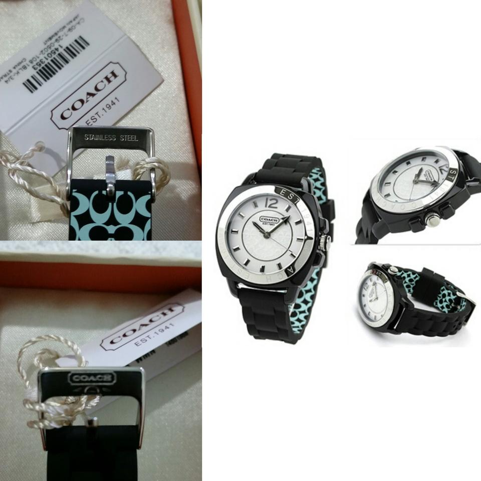 Coach Black Boyfriend Rubber Strap W914 Watch Tradesy Authentic 1234567891011