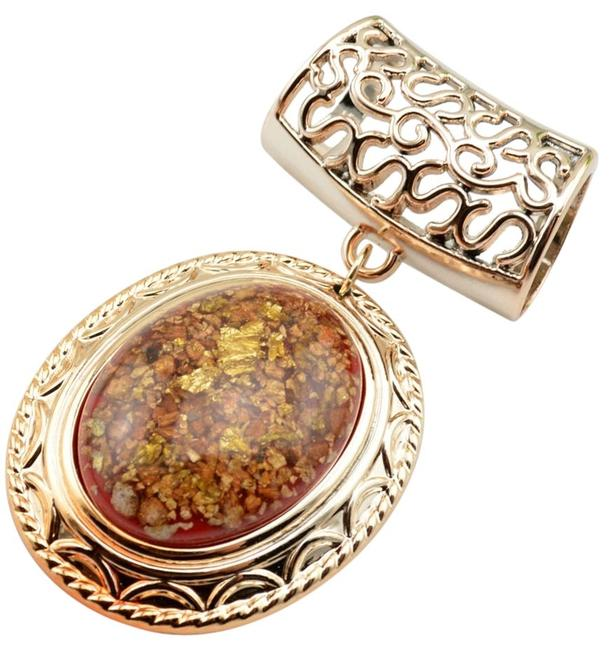 Item - Gold Jeweled Pendant Free with Purchase Free Shipping Scarf/Wrap