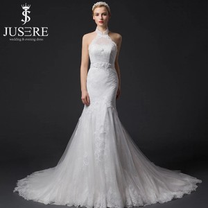 Elegant Halter Mermaid Wedding Dress
