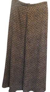 Liz Claiborne Skirt brown and black print