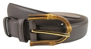 Gucci New Gucci Women's Gray Leather Belt w/Bamboo Buckle 90/36 322954 2137